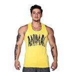 Supplementler.com Animal Tank Top Sarı Siyah