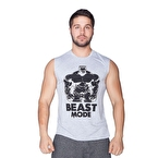 Supplementler.com Beast Mode Hlk Kolsuz T-Shirt Gri
