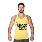 Supplementler.com Beast Mode Tank Top Sarı Siyah