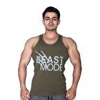 Supplementler.com Beast Mode Tank Top Yeşil Açık Gri