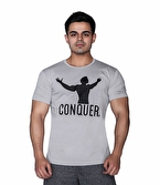 Supplementler.com Conquer T-Shirt Açık Gri