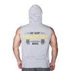 Supplementler.com Deadlift Kapüşonlu Kolsuz T-Shirt Gri