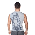 Supplementler.com Dumbell Arm Kolsuz T-Shirt Gri