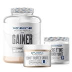 Supplementler.com Gainer 3000 Gr + Creatine 500 Gr + Yer Fıstığı Ezmesi 500 Gr Avantajlı Set