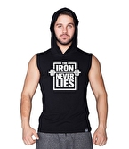 Supplementler.com Iron Never Lies Kapüşonlu Kolsuz T-Shirt Siyah