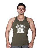 Supplementler.com Iron Never Lies Tanktop Yeşil