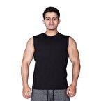 Supplementler.com Kolsuz T-Shirt Siyah