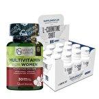 Supplementler.com L-Carnitine Shot + Nature's Supreme Multivitamin For Women Kombinasyonu