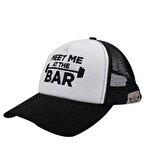 Supplementler.com Meet Me At The Bar Fileli Şapka Siyah