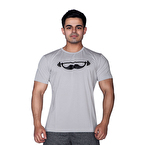 Supplementler.com Moustache T-Shirt Açık Gri