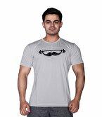 Supplementler.com Moustache T-Shirt Açık Gri