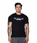 Supplementler.com Moustache T-Shirt Siyah