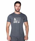 Supplementler.com Never Give Up T-Shirt Gri