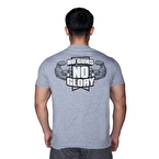 Supplementler.com No Guns No Glory T-Shirt Açık Gri