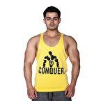 Supplementler.Com Posing Conquer Fitness Atleti Sarı