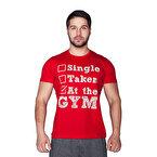 Supplementler.com Single Taken At The Gym T-Shirt Kırmızı