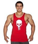 Supplementler.com Skull Fitness Atleti Kırmızı