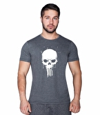 Supplementler.com Skull T-Shirt Gri