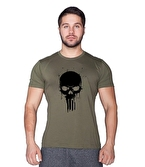Supplementler.com Skull T-Shirt Yeşil