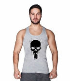 Supplementler.com Skull Tanktop Gri