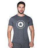 Supplementler.com Star T-Shirt Gri