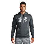 Under Armour Armour Fleece Big Logo Kapüşonlu Sweatshirt Gri
