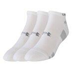 Under Armour Heatgear 3Pk No Show Erkek Kısa Çorap - Beyaz