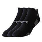 Under Armour Heatgear 3Pk No Show Erkek Kısa Çorap - Siyah