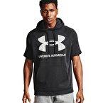 Under Armour Rival Flc Big Logo Ss Hd Kısa Kollu Sweatshirt Siyah