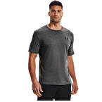 Under Armour Sportstyle Left Chest T-Shirt Koyu Gri