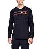 Under Armour Team Stripe Uzun Kollu T-Shirt Siyah