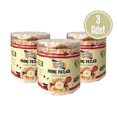 Bellanut Pirinç Patlağı Rice Cakes 85 Gr x 3 Adet