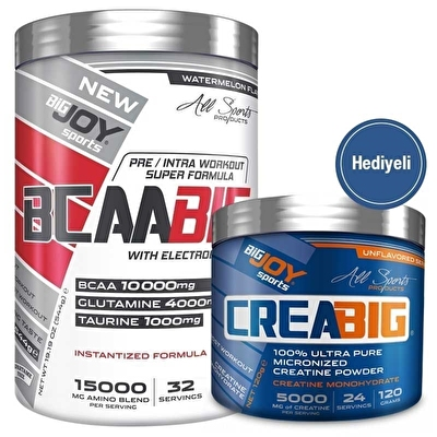 Big Joy BcaaBig 544 Gr + Crea Big Creatine 120g Hediyeli