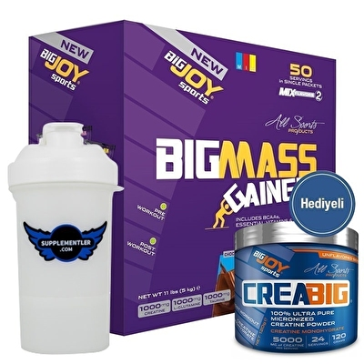 Big Joy Big Mass 5000 Gr 50 Saşe + Crea Big Kreatin 120 Gr Hediyeli