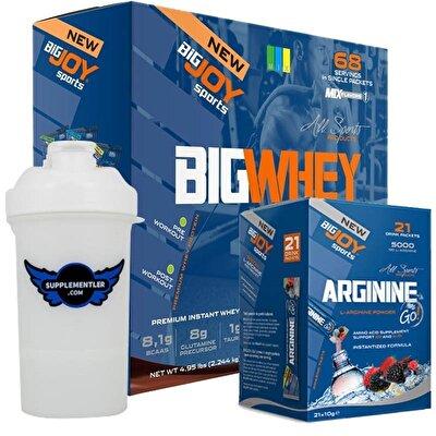 Big Joy Big Whey 68 Saşe + Arginine GO Kombinasyonu