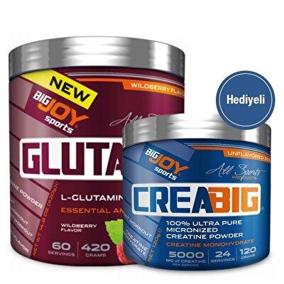 Big Joy GlutaBig Glutamin 420 Gr + Crea Big Creatine 120 Gr Hediyeli