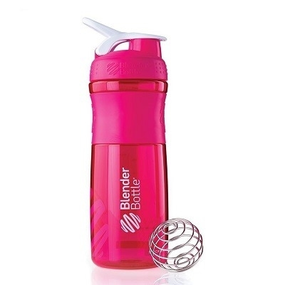 Blender Bottle Sportmixer Pembe Beyaz 760 ml