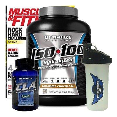 Dymatize ISO 100 + Dymatize CLA + Supplementler Shaker