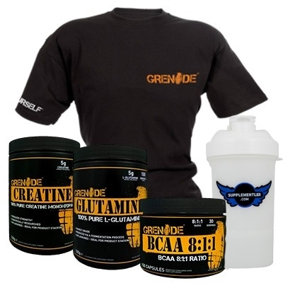 Grenade Creatine + Glutamine + BCAA + T-Shirt Kampanyası
