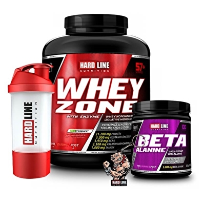 Hardline Whey Zone 2300 Gr + Beta Alanine 300 Gr Kombinasyonu