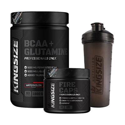 Kingsize Nutrition BCAA+Glutamine + Firecaps Kombinasyonu