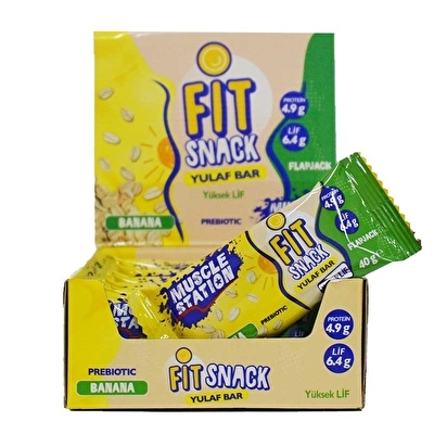 Muscle Station Fit Snack Yulaf Bar Banana 40 Gr 24 Adet