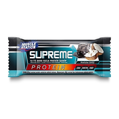 Muscle Station Supreme Protein Bar Dark Chocolate Coconut 40 Gr 1 Adet
