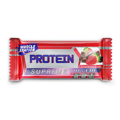 Muscle Station Supreme Protein Bar Çikolata Çilek 40 Gr 1 Adet