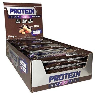 Muscle Station Supreme Protein Bar Çikolata Yer Fıstığı 40 Gr 24 Adet