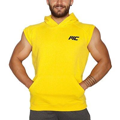 MuscleCloth Kapüşonlu Kolsuz Yelek Sarı