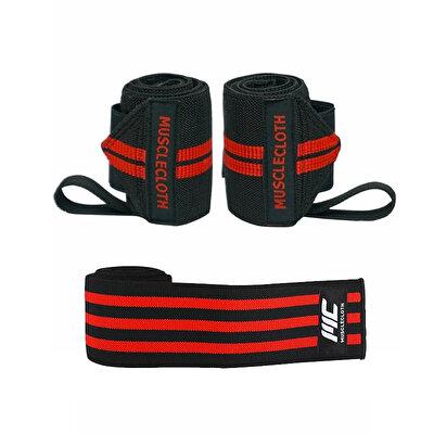 MuscleCloth Pro Wrist Wraps + Pro Knee Wraps Diz Bandajı