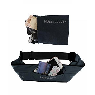MuscleCloth Running Belt Bel Çantası + Wrist Wallet Bilek Cüzdanı