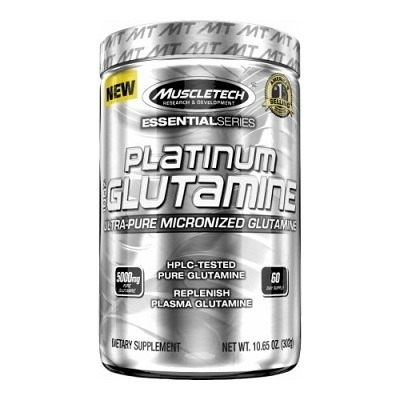 Muscletech Essential Series Platinum %100 Ultra-Pure Micronized Glutamine 302 Gr