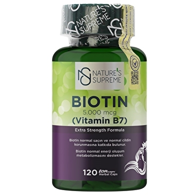 Nature's Supreme Biotin 5000 Mcg 120 Kapsül